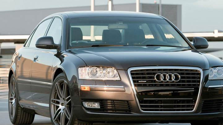 Front Pose Of Audi A8 L In Black